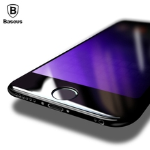 Buy Baseus 0.23MM Screen Protector Tempered Glass iPhone 8 7 Plus Soft Edge 3D Curved Full Cover Front Protective Glass Film for $4.79 in AliExpress store