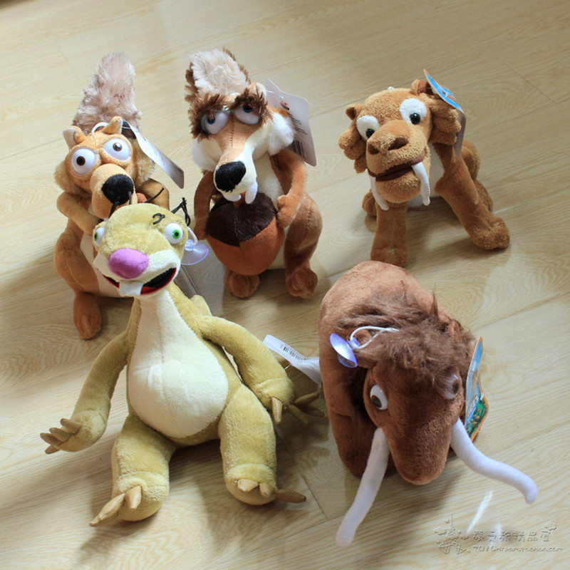 1PCS Movies &amp; TV Ice Age 5 Kinds Elephant, Bradypod,Squirrels,Tiger Plush Toy Ice Age Plush Anmial Toy Doll Plush Stuffed<br><br>Aliexpress