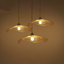 Bamboo Modern Chinese Restaurant Bar Club Hotel pendant lights clothing shop barber shop shape lighting pendant lamps ZH(China)