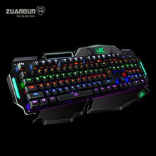 104 Key Blue Axis LED RGB Wired Backlit Mechanical Keyboard Professional Gaming Keyboard for Desktop Laptop Computer Keyboard