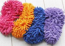 Hot 1pc 5 Colors Dust Mop Slipper House Cleaner Lazy Floor Dusting Cleaning Foot Shoe Cover Dust Mop Home Tools Accessories2017(China)