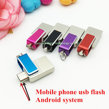 Full capacity intelligent  Mobile computers dual mini Waterproof usb flash drive 32gb Android system OTG Mobile pendrives 16gb8g