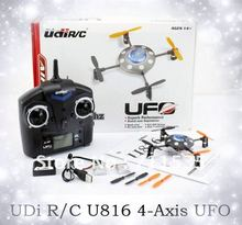 UDi RC U816 4CH 2.4Ghz 3D 4 Axis UFO X-copter Quadcopter with Radio Remote Control LCD Display, V911 Upgrade RTF Helicopter