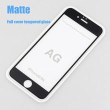 9H Full Cover Frosted Tempered Glass Screen Protector For iPhone 7 6 6s plus Glare Finger print Matte Screen protection film