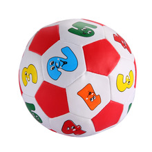 Baby Early Education Football Toys PVC/Sponge Alphabet Number Learning Ringing Ball Funny Kids Outdoor Sport Toys