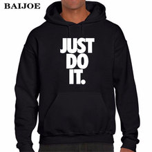 BAIJOE Brand JUAT DO IT Print Hoodies Men Women Hoodie Sweatshirt Hip Hop Pullover Men's Tracksuits Moleton Masculino Hoodies