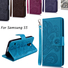 Luxury Business Women/Men Card Slot Wallet Holster Leather Cellular Case Cover For Samsung Galaxy S5 G900F Phone Funda Bag