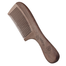 Wooden Comb Anti Static Massage Hair Brush Natural Peach Wood Wide Tooth Wooden Comb Hair Care Hairbrush Salon Styling Tools(China)