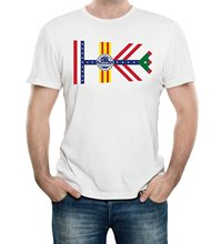 GILDAN Casual T-shirts Hip Hop Style Tops Tee S-2xl Tampa Florida City Flag Adult T-shirt(China)