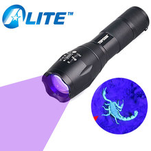 [FREE SHIP]G700 UV 365nm 395nm led powerful best tactical flashlight no 18650 battery(China)