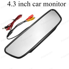auto mirror monitor 4.3 inch LCD vehicle digital HD video car monitor small display for reversing parking backup camera