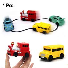 Magic Pen Inductive Car Truck Tank Follow Any Drawn Black Line Track Mini Toy Engineering Vehicles Educational Toy for kid(China)