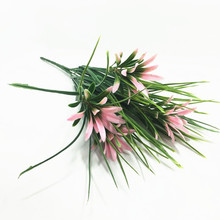 artificial flowers of grass green spring grass flower, four colors plastic flowers home decoration flower