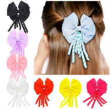 1PC Fashion Hair Accessories Leather Shiny Star Head Accessories Girls Heart Crown Hairpins kids Hair Clip h106(China)