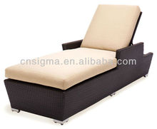 2017 Modern Design Outdoor Single Adjustable day bed sun lounge