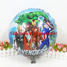 5pcs/lot Round Ballons 45*45cm The Avengers 2 Balloons Movie Cartoon avengers Balloon Party Supply Decoration