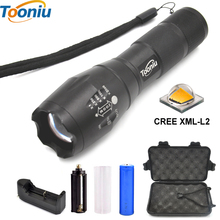 LED flashlight Tactical Flashlight 8000 Lumens CREE XM-L2 Zoomable 5 Modes aluminum Lanterna LED Torch Flashlights For Camping(China)