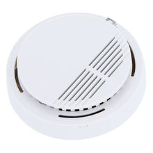 High Sensitivity Photoelectric Smoke Detector Fire Alarm Sensor for Home Security Independent Smoke Sensor White