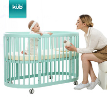 KUB Cradle Bed Crib Bed Multifunctional Game with Roller Shaker Crib Bed Pine Forest Crib with M Squito Networks Free Shipping(China)