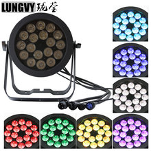 Free Shipping 18x18W RGBW+UV Led Par Light Waterproof IP65 Stage 6IN1 Outdoor Led Par 64 DMX512(China)