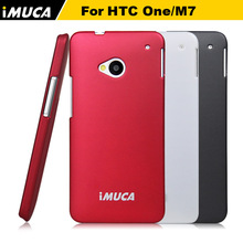 Original brand IMUCA Hard Case For HTC ONE M7 Luxury Back Cover case for htc one cell phones cases