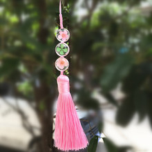 Diy Original Hand Gorgeous Flower Mobile Phone Pendant Small Plum Blossom Grass Dandelion Tassel Phone Chain(China)