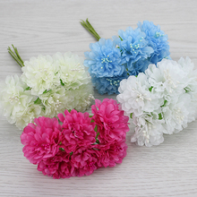 3cm Multicolor artificial Chrysanthemum flower wedding decoration Bouquet Scrapbooking