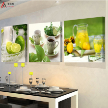3 Panels paintings for the kitchen fruit wall decor modern canvas art wall pictures for living room descorative pictures