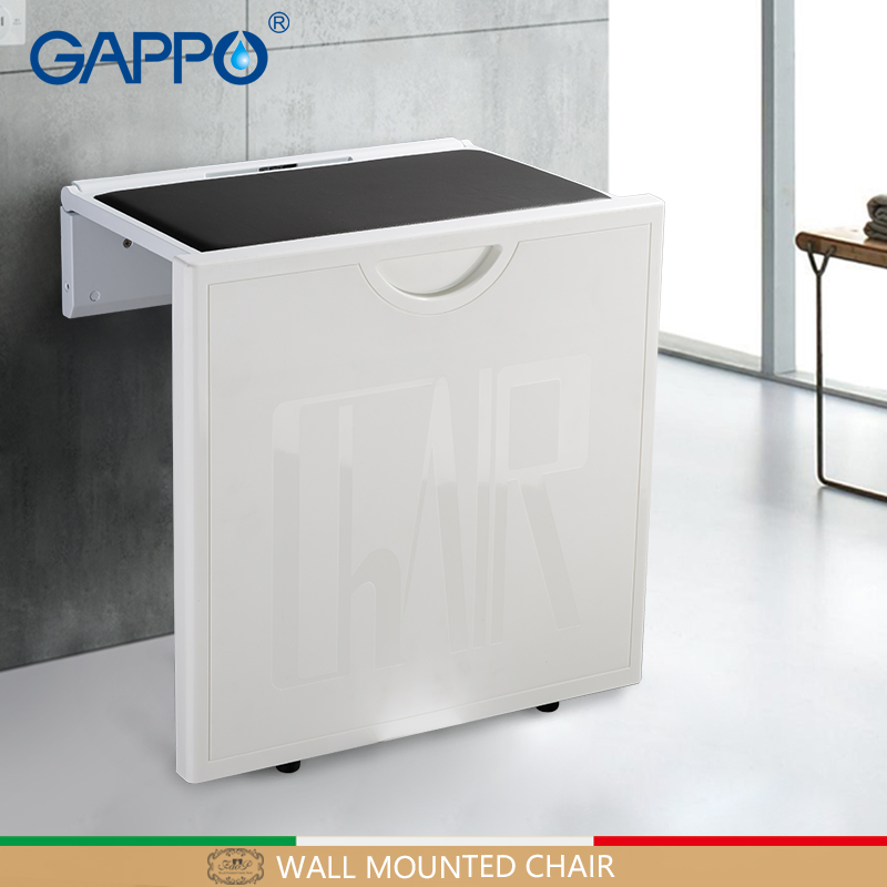 Bathroom Fixtures Gappo Wall Mounted Shower Seats Alumimum Alloy Disabled Elderly Bath Shower Seat Bathroom Chair Seat Stool Bench Year-End Bargain Sale