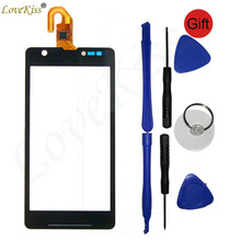 M36H Front Panel Digitizer For Sony Xperia ZR M36H M36 C5502 C5503 Touch Screen Sensor LCD Display Outer Glass Lens Replacement