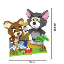 9 Models HC Magic Blocks Anime Tom Cat and Jerry Mouse ECT DIY Building Bricks Fox 3D Auction Figure Micro Blocks Girls Gifts