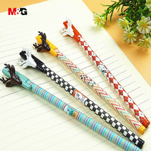 M&G 3pcs/lot kawaii elk gel pens for school stationery office supplies quality brand christmas pen for writing cute pen for girl(China)