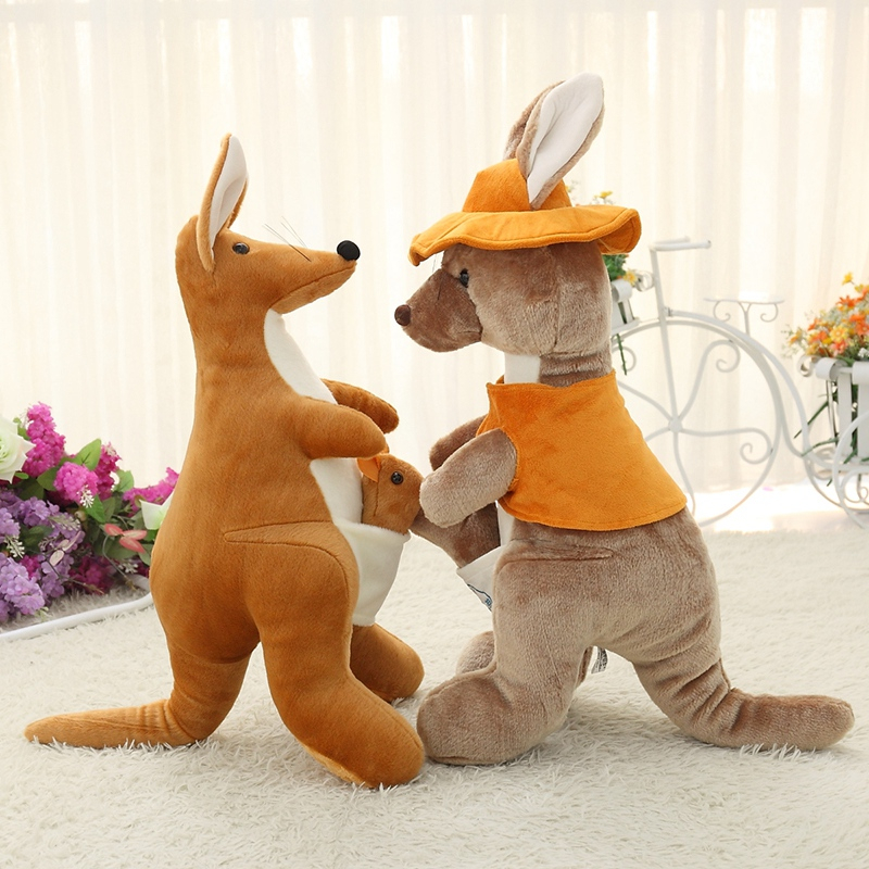 Kangaroo Plush Toys Brown Kangaroo Cloth Doll Christmas Present Kids Toy<br><br>Aliexpress