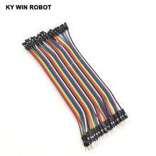 Buy Dupont line 40pcs 15cm 2.54mm 1p-1p Pin Male Male Color Breadboard Cable Jump Wire Jumper Arduino for $1.25 in AliExpress store