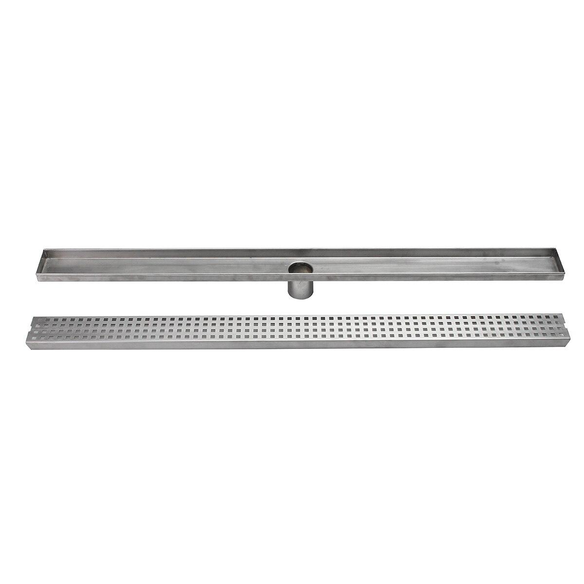 Stainless Steel Bathroom Shower Floor Drain 600mm/900mm Grates Waste Linear Tile Insert Long Drainer Floor Drain<br>