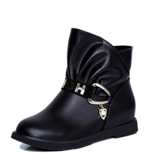 2017 Women fashion Vintage Genuine Leather Shoes Female Spring Autumn New Platform Ankle Boots Casual Cowboy Boots Shoes