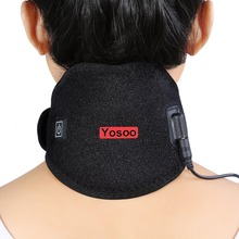 Yosoo Electric Neck Wrap Heating Pad Pack Brace Protector Strap Support Hot Cold Therapy Neck Shoulder Pain Relief Health Care(China)