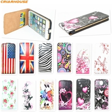 For Samsung Galaxy S3 S4 s5 note3 Vertical Flip Case Butterfly Fly painted pu leather phone cover For iPhone 6s Plus SE 5 5S 4S