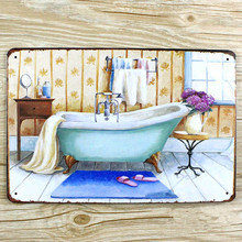 "NEW 2015 "" about washroom"" metal Tin Signs Vintage House Cafe Restaurant Beer Poster Metal Craft ART 20*30 CM wall pictures(China)"