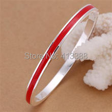 BBS1 Top Quality Promotion Item New Fashion Women Jewelry Bangle Soft Enamel Red BlueYellow Colour Round Cuff bracelet Bangles(China)
