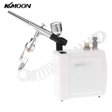 Dual Action Airbrush Hot Air spray gun Compressor Kit aerografo for body Makeup Manicure Craft Cake Model Air Brush Nail Tool(China)
