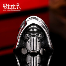 Beier new store 316L Stainless Steel ring top quality New Star Wars Clone storm Mask ring fashion jewelry  LLBR8-295R