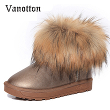 Brand Women's Shoes Thick Fur Fashion Snow Boots 2017 New Winter Cotton Warm Shoes For Women Ankle Boots