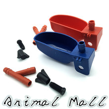 30 sets Quail Waterer Automatic waterers Parrot Feeder Starling pigeon Automatic water bowl Cages Cups 11 * 4.5cm Red Blue cups(China)