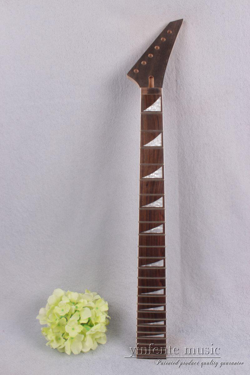 1pcs electric guitar neck maple 24 fret 25.5 Truss Rod rose Paste Paper #756<br>