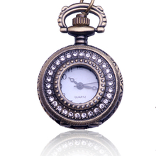 Retro Trumpet Engraved Hollow Pocket Watch Necklace Table Student Watch Quartz Watch Orologio Da Tasca Drop Shipping