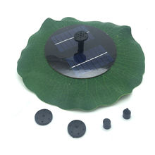 Lotus Leaf Fountain New Solar Water Floating Pump Fountain Garden Pool Watering Solar Pump Kit