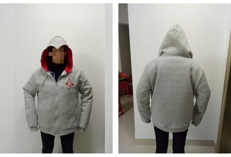 Fashion Men Assassins Creed Hooded Sweatshirt Hombre Autumn Winter Solid Hoodie Sweatshirts Men Cosplay Chadal Cool Clothing 3XL 11