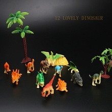12Pcs Dinosaur solid Assorted Figures Park PVC Play Prehistoric Toy Set Kids Gift  simulation wild animal toys