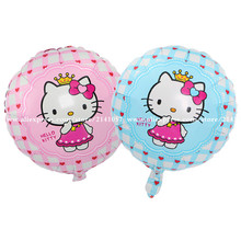 10pcs/lot high quality hello kitty balloon hello kitty birthday KT party supplies hello kitty party favors foil balloon toys(China)